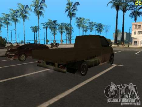 Moonbeam Pickup para GTA San Andreas traseira esquerda vista