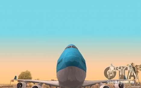 Boeing-747 Corsair Fly para vista lateral GTA San Andreas