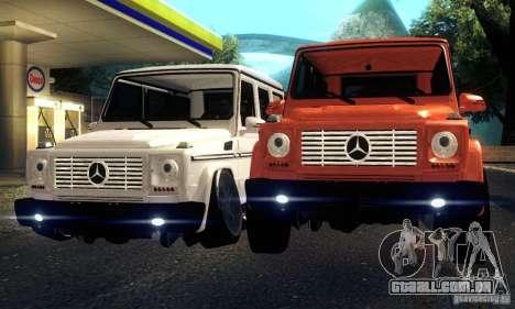 Mercedes-Benz G65 para GTA San Andreas vista traseira