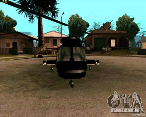 Airwolf para GTA San Andreas esquerda vista
