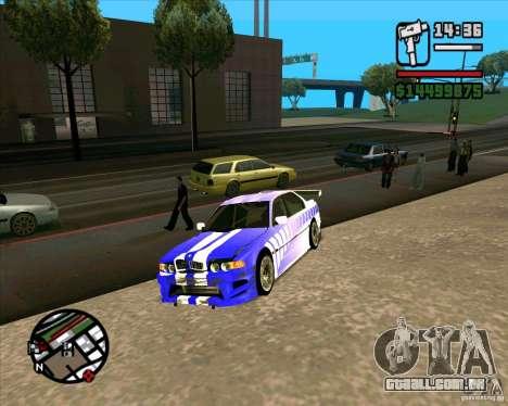 BMW 730i X-Games tuning para GTA San Andreas vista direita