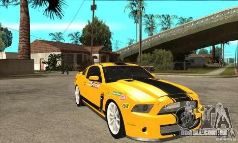 Ford Shelby GT500 Supersnake 2010 para GTA San Andreas vista traseira
