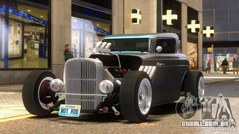 Custom Hot Rod 1933 para GTA 4 traseira esquerda vista