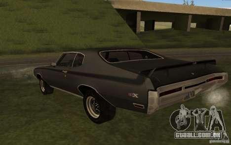 Buick GSX 1970 para GTA San Andreas traseira esquerda vista