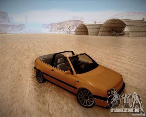 Volkswagen Golf MkIII Cabrio Custom 1995 para GTA San Andreas esquerda vista
