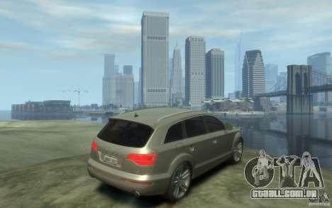 Audi Q7 para GTA 4 vista direita