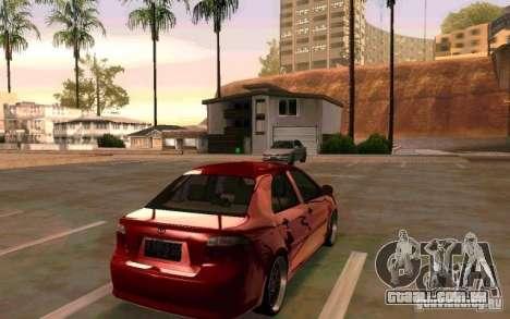 Toyota Vios para GTA San Andreas esquerda vista