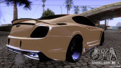 Bentley Continental GT Premier 2008 V2.0 para GTA San Andreas vista interior