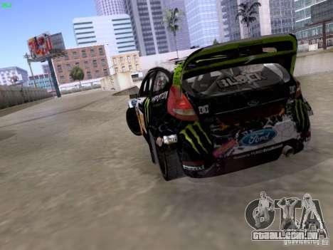 Ken Block Ford Fiesta 2012 para GTA San Andreas vista interior