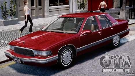 Buick Roadmaster Sedan 1996 v 2.0 para GTA 4 esquerda vista