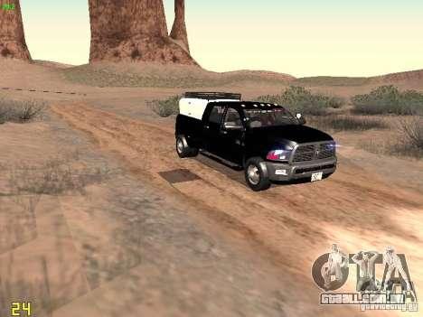 Dodge Ram 3500 Unmarked para GTA San Andreas vista interior