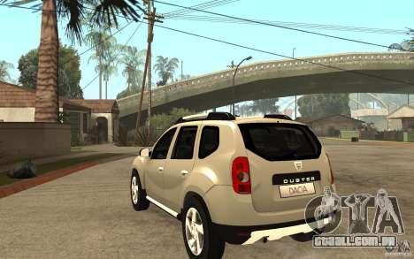 Dacia Duster 2010 SUV 4x4 para GTA San Andreas traseira esquerda vista
