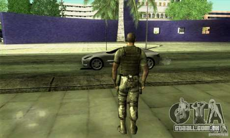 Sam Fisher Army SCDA para GTA San Andreas segunda tela