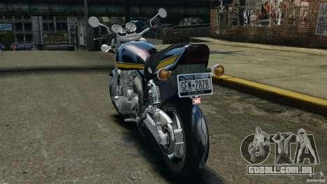 Kawasaki Zephyr para GTA 4 traseira esquerda vista
