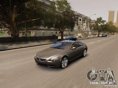 BMW M6 2010 para GTA 4 vista inferior