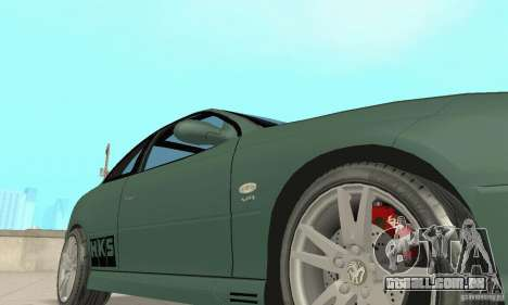 Vauxhall Monaro VXR Open SKY 2004 para GTA San Andreas vista superior