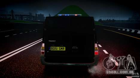 Ford Transit SWAT [ELS] para GTA 4 vista inferior