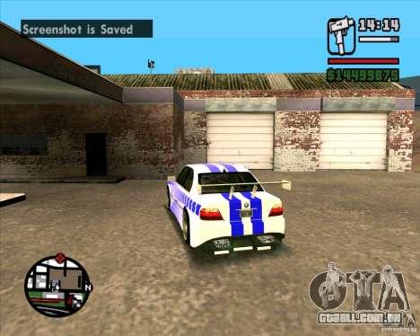 BMW 730i X-Games tuning para GTA San Andreas traseira esquerda vista