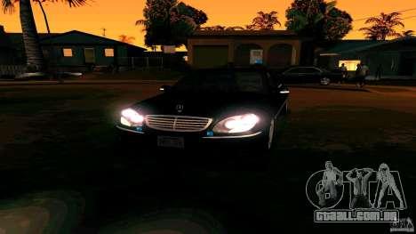 Mercedes S500 para GTA San Andreas vista traseira