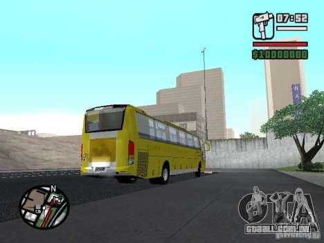 Busscar Vissta Bus para GTA San Andreas vista direita