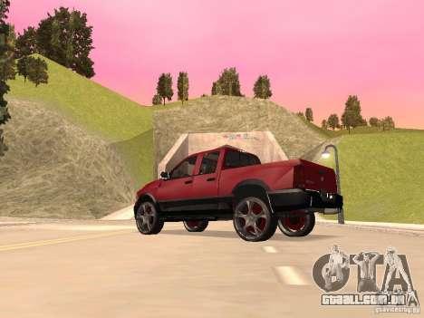 Dodge Ram 2010 para GTA San Andreas traseira esquerda vista