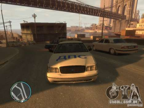 Ford Crown Victoria polícia para GTA 4 esquerda vista
