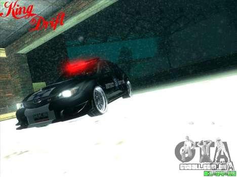 Subaru Impreza WRX Police para GTA San Andreas vista inferior