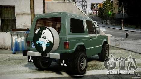 Mitsubishi Pajero I [Final] para GTA 4 traseira esquerda vista