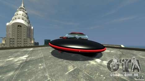 UFO neon ufo red para GTA 4 traseira esquerda vista