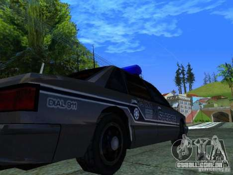 Lumpkin Country Sheriffs Office para GTA San Andreas vista traseira