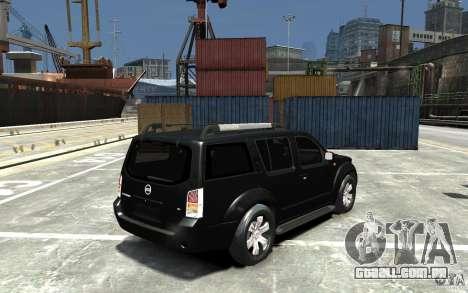 Nissan Pathfinder 2006 para GTA 4 vista direita
