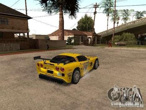 Chevrolet Corvette C6-R para GTA San Andreas traseira esquerda vista