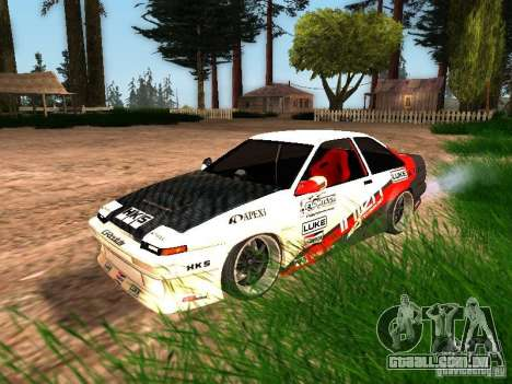Toyota AE86 Coupe para GTA San Andreas vista inferior