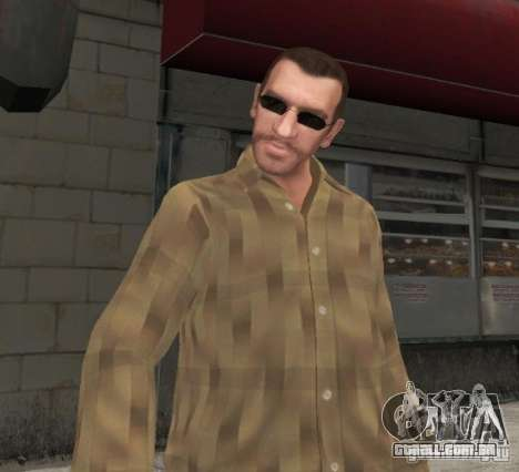 Novos óculos para Niko-preto para GTA 4