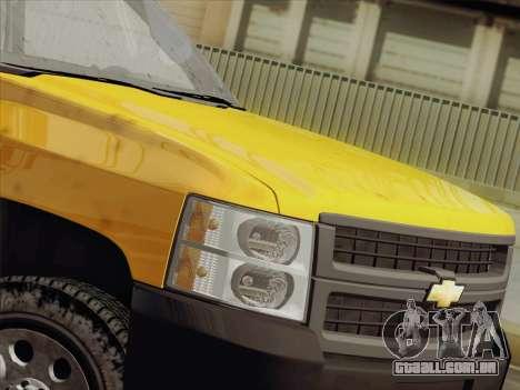 Chevrolet Silverado 2500HD 2013 para GTA San Andreas vista interior