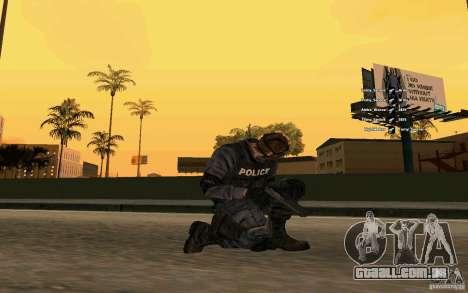 Pele SWAT para GTA San Andreas terceira tela