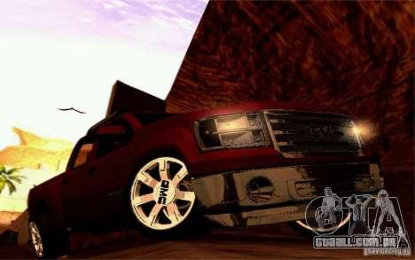 GMC Sierra 2011 para GTA San Andreas vista interior