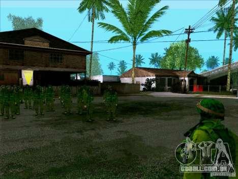 Camuflagem de floresta Morpeh para GTA San Andreas terceira tela