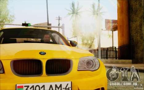 BMW 1M Coupe para GTA San Andreas vista traseira