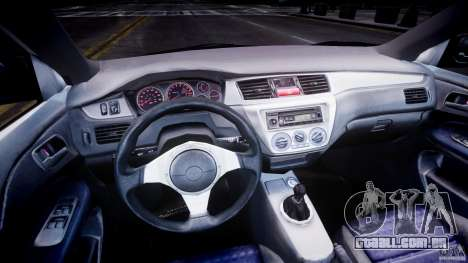 Mitsubishi Lancer Evolution VIII para GTA 4 traseira esquerda vista