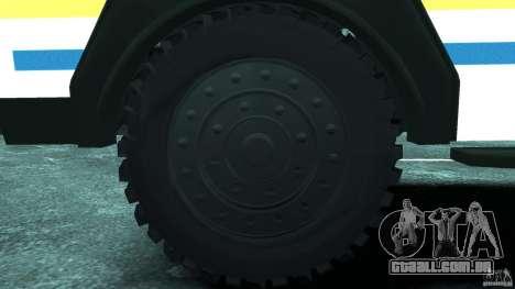 RG-12 Nyala - South African Police Service para GTA 4 vista de volta