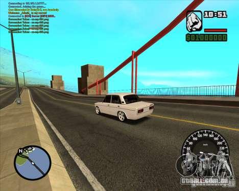VAZ 2106 tuning para GTA San Andreas esquerda vista
