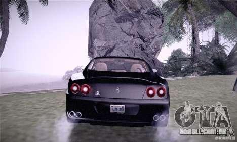 Ferrari 575M Maranello para GTA San Andreas traseira esquerda vista