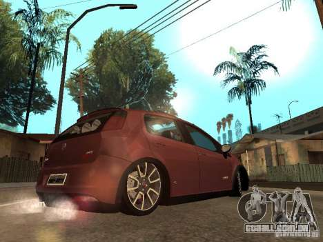 Fiat Punto T-Jet Edit para GTA San Andreas esquerda vista