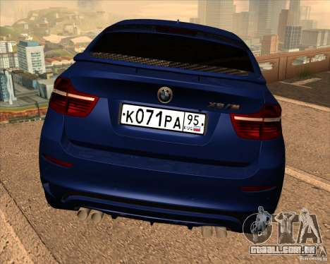 BMW X6 M E71 para vista lateral GTA San Andreas