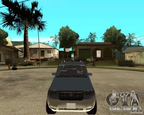 UAZ Patriot 4 x 4 para GTA San Andreas vista traseira