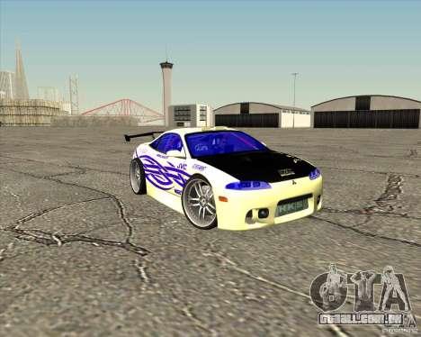 Mitsubishi Eclipse street tuning para GTA San Andreas vista inferior
