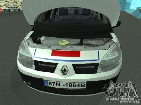 Renault Scenic II Police para GTA San Andreas vista interior