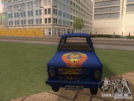 Hippie ZAZ para GTA San Andreas vista traseira