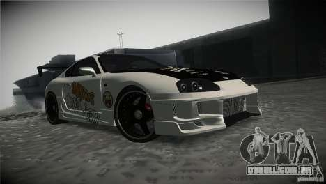 Toyota Supra MyGame Drift Team para GTA San Andreas vista traseira